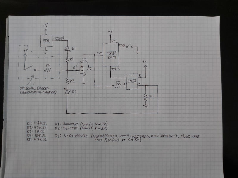 Trailcam v1 schematic